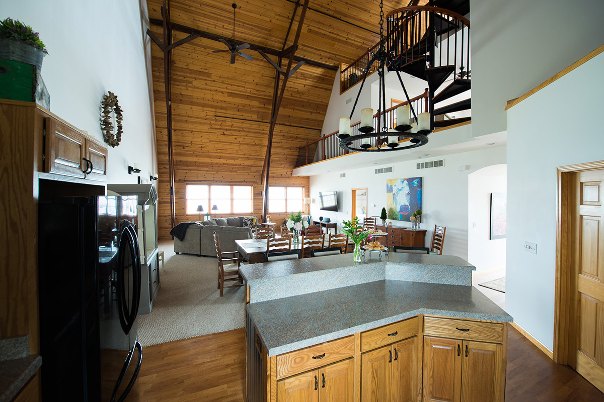 St Joe Farm loft interior