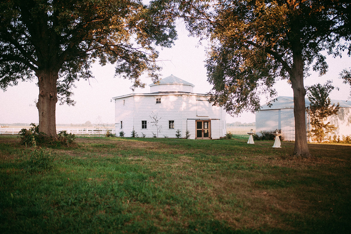 St Joe Farm round barn exterior